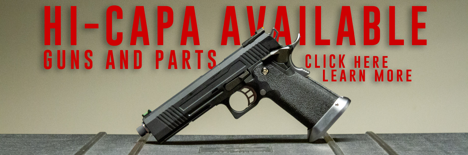 Hi-Capa Airsoft Pistols and Parts
