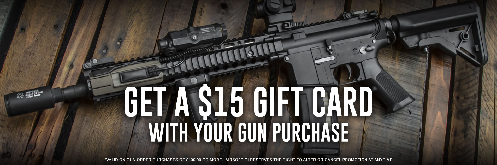 $15 Gift Card with Gun Purchases