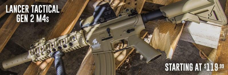 Lancer Tactical Gen 2 M4 Spotlight | Airsoft GI | Free