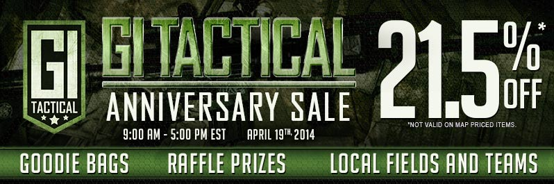 GI Tactical Anniversary Sale, April 19th
