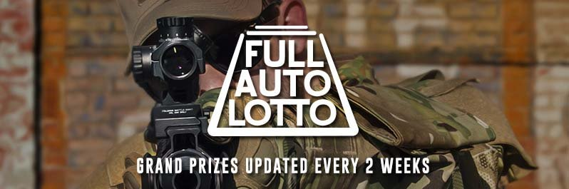 Airsoft GI's Full Auto Lotto, Win Great Airsoft Guns and Tactical Gear with Your Order