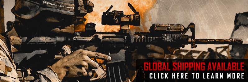 We now offer international shipping most tactical gear, airsoft guns, and accessories