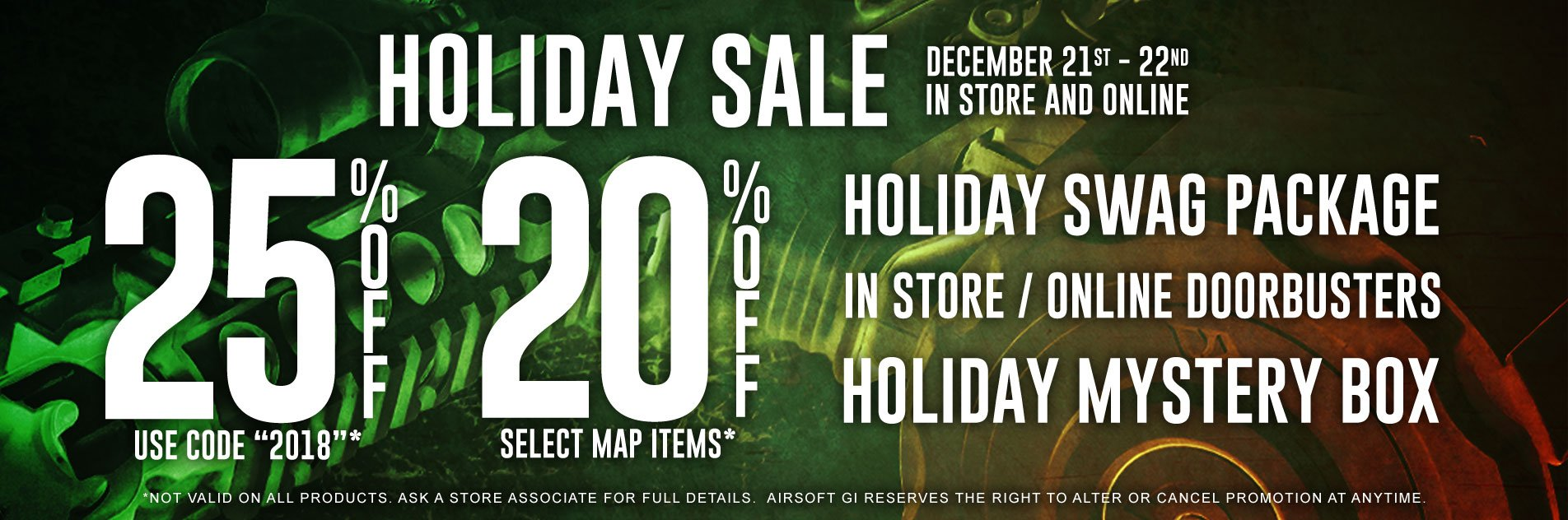 Holiday Sale | In Store and Online