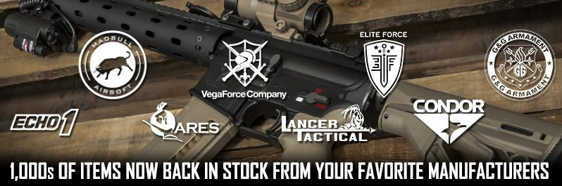 Airsoft GI Massive Restocked Inventory, 1000s of products now back in stock!