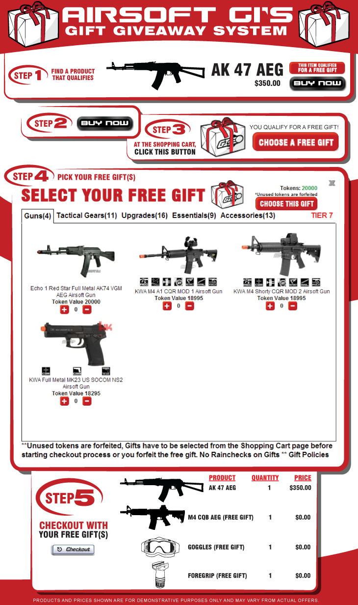 Airsoft GI Gift Giveaway Promotion