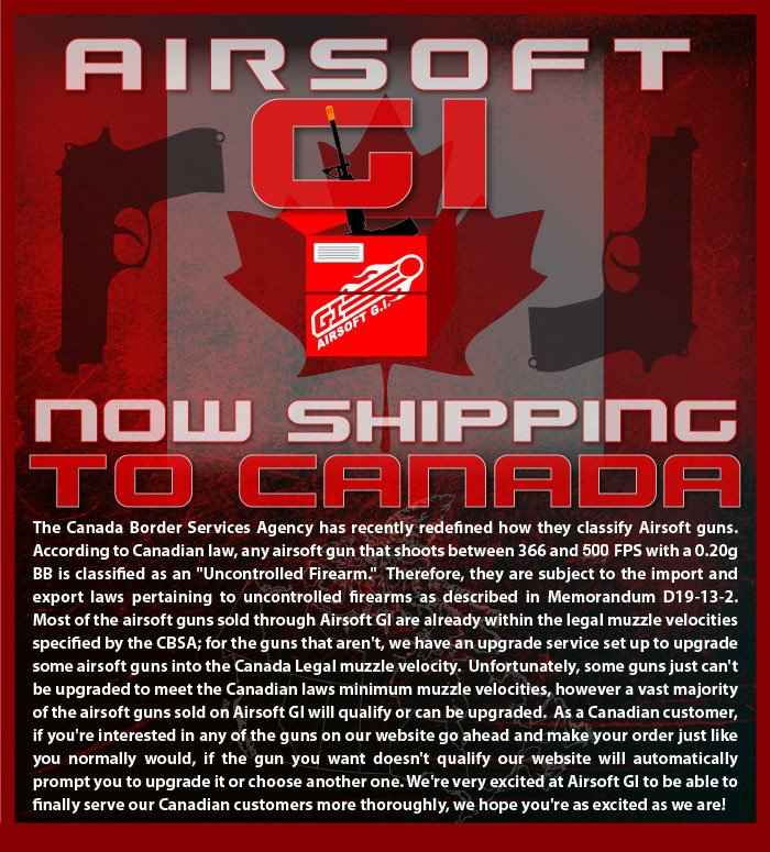 Airsoft GI - Now Shipping to Canada