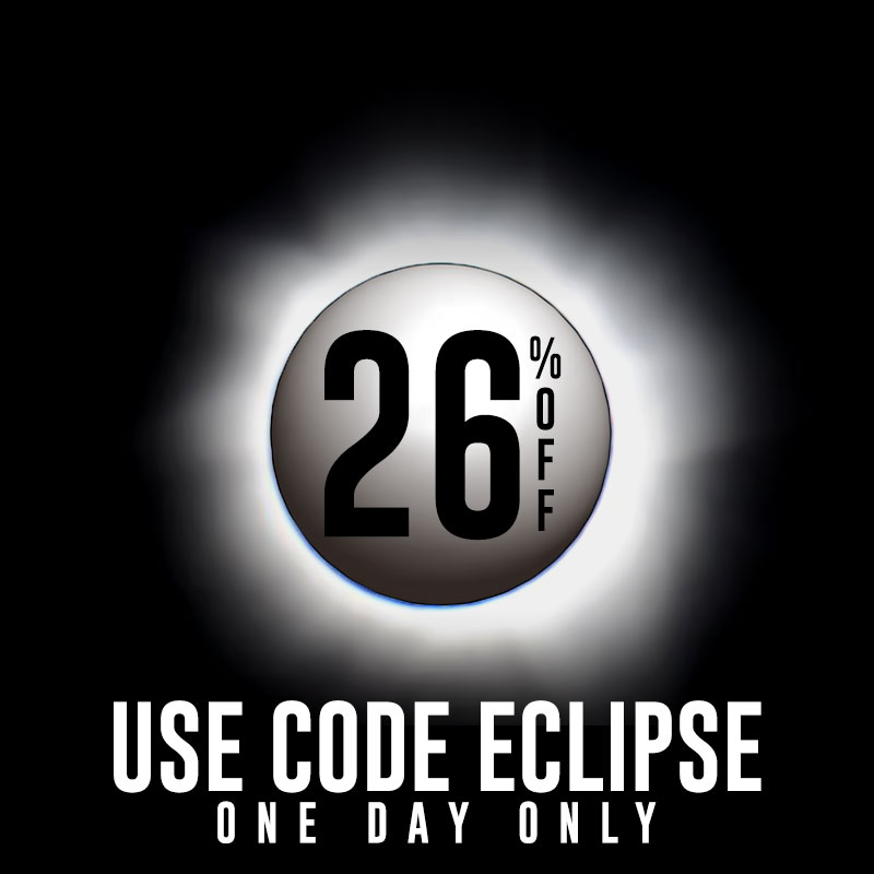 26% Off, Use Code ECLIPSE