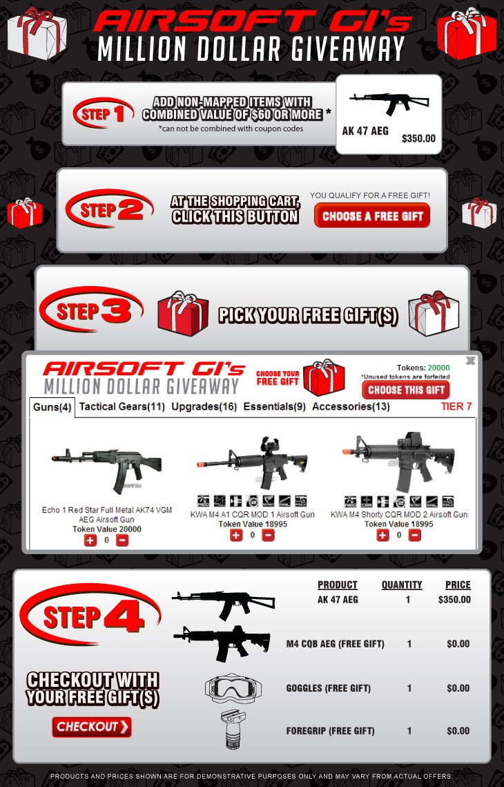 Airsoft GI Million Dollar Gift Giveaway Promotion