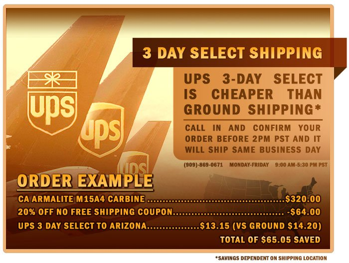 3 Day Select Shipping Rate