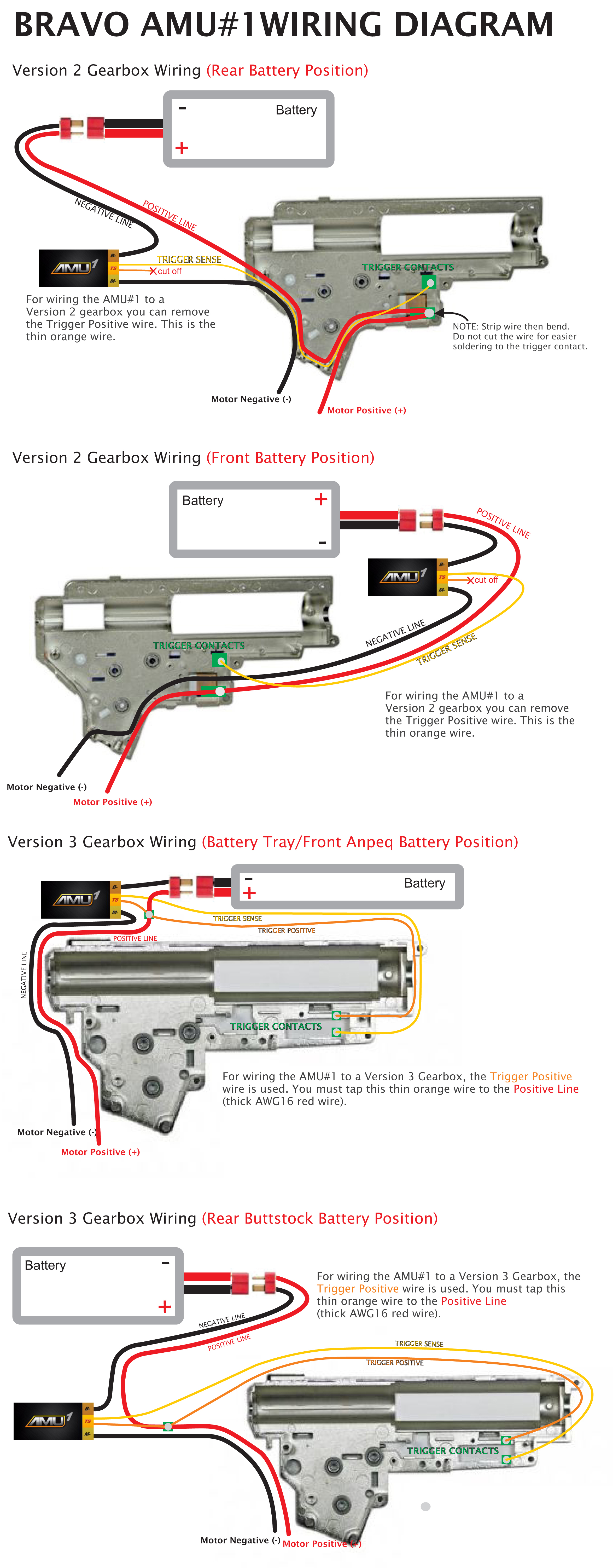 bravo advanced aeg mosfet wire assembly unit #1 | airsoft ... airsoft wiring diagram