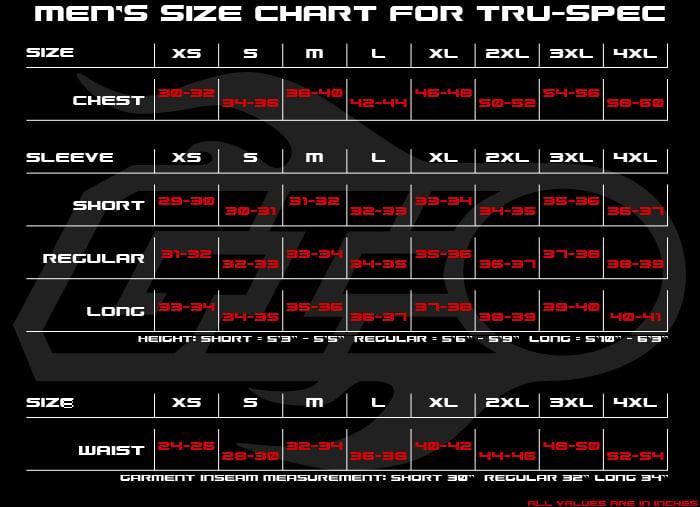 Shirt Design Size Chart