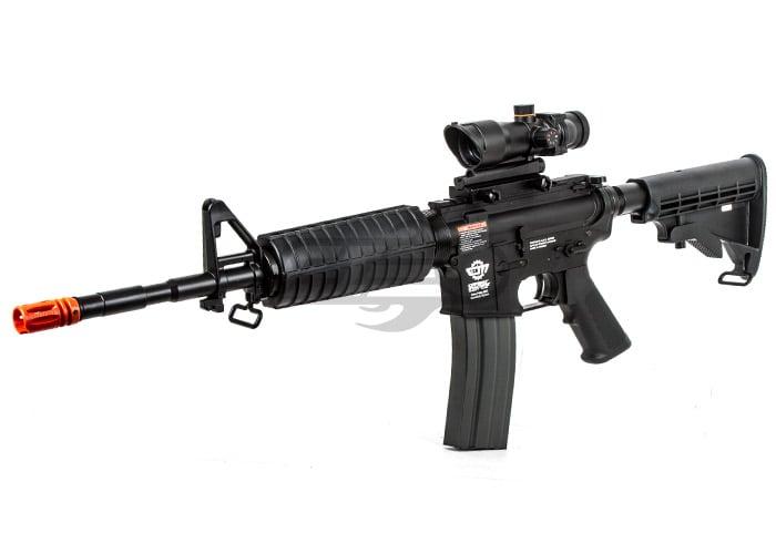 G G Combat Machine M 4 Aeg Black Airsoft Gun W Scope