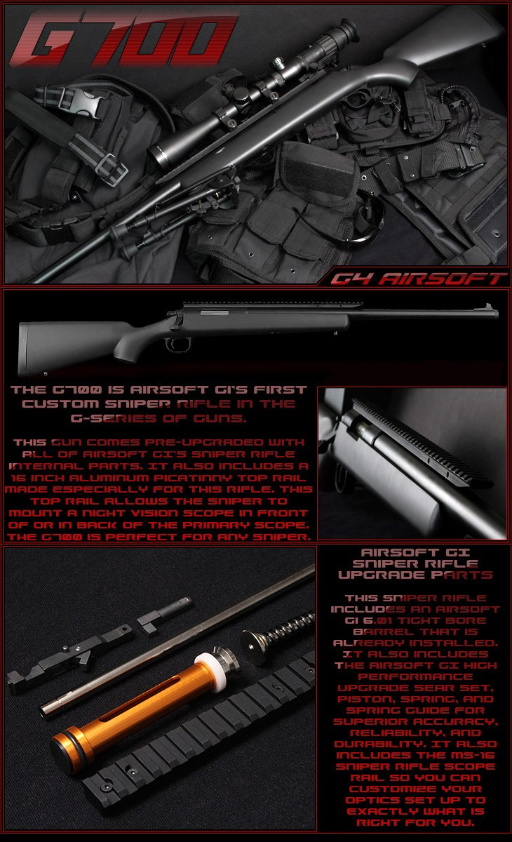 airsoft gi g700 upgraded sniper rifle airsoft gun