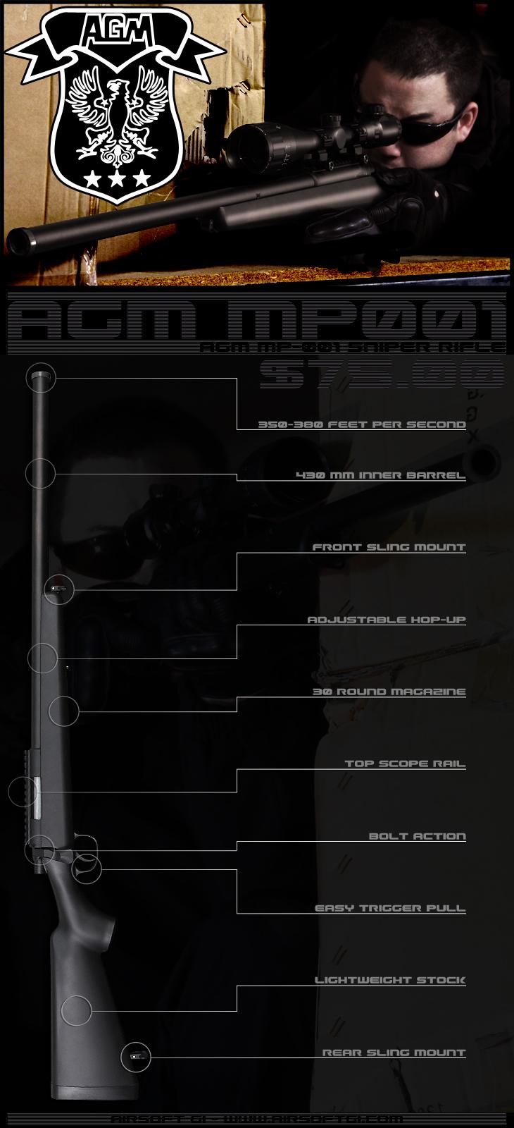 AGM MP-001 Airsoft Gun