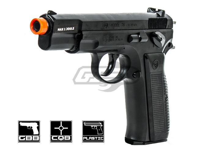 ASG CZ75 Shell Ejecting Pistol Airsoft Gun (6mm/Black) by Marushin
