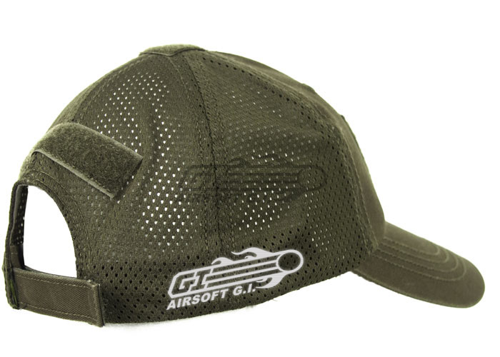 baaccc3303e Airsoft GI Tactical Embroidered Mesh Handy Cap ( OD Green )
