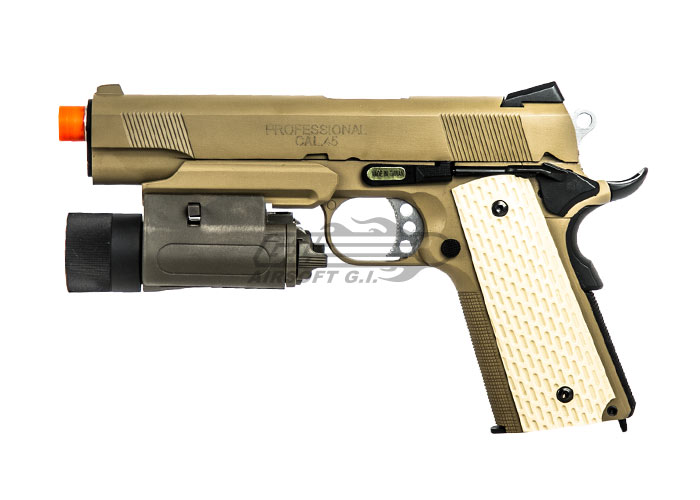 socom gear m1911 desert warrior pistol gbb airsoft gun x 2. Black Bedroom Furniture Sets. Home Design Ideas