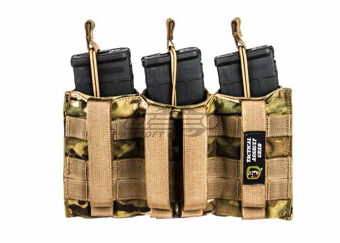 H World Shopping Tactical Molle M4 M16 AR15 Magazine Pouch Open Top Mag Holder Double Airsoft MOLLE Mag Pouch MC