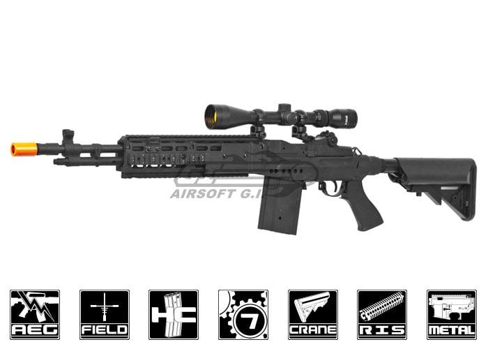 CYMA CM032EBR M14 EBR Sniper Rifle AEG Airsoft Gun ( Black ) M14 Ebr Sniper Rifle