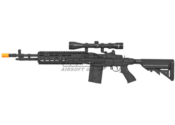 CYMA CM032EBR M14 EBR Sniper Rifle AEG Airsoft Gun ( Black ) M14 Ebr Rifle