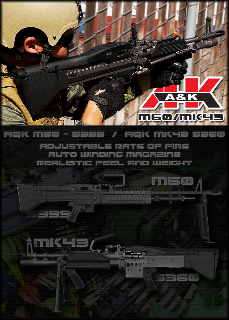 A&K Full Metal M60 & MK43