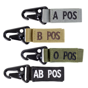 Condor Outdoor O Negative Blood Type Key Chain (Foliage)
