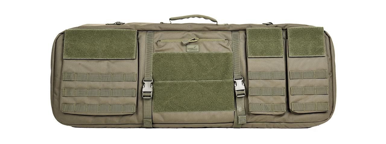 "Details about  /Lancer Tactical 1000D Nylon 3-Way Carry 35/"" Double Rifle Gun Bag GREEN"