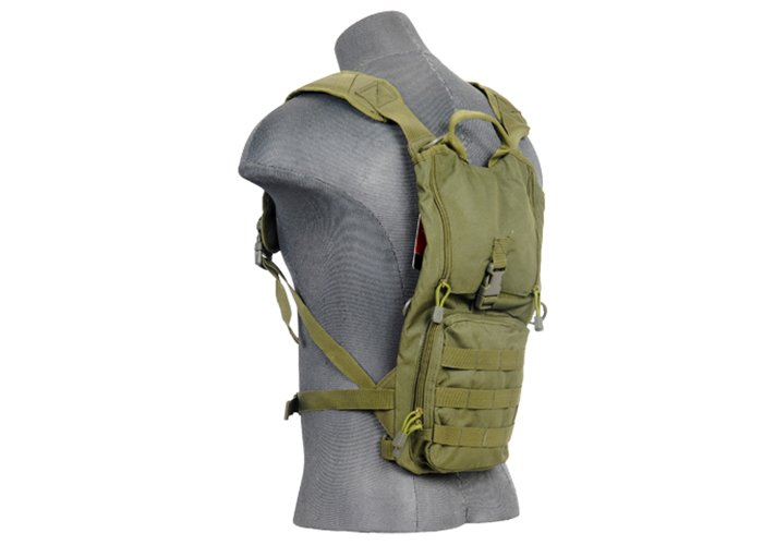6a11787dafe Lancer Tactical Nylon Lightweight Hydration Pack (OD Green)
