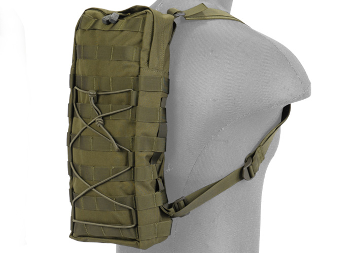 f2c7ec9edf3 Lancer Tactical Nylon MOLLE Attachable Hydration Backpack (OD Green)