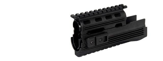 Airsoft Parts CYMA Upper and Lower Rail Handguard Garde-Main for pour AK74 Series Black Noir