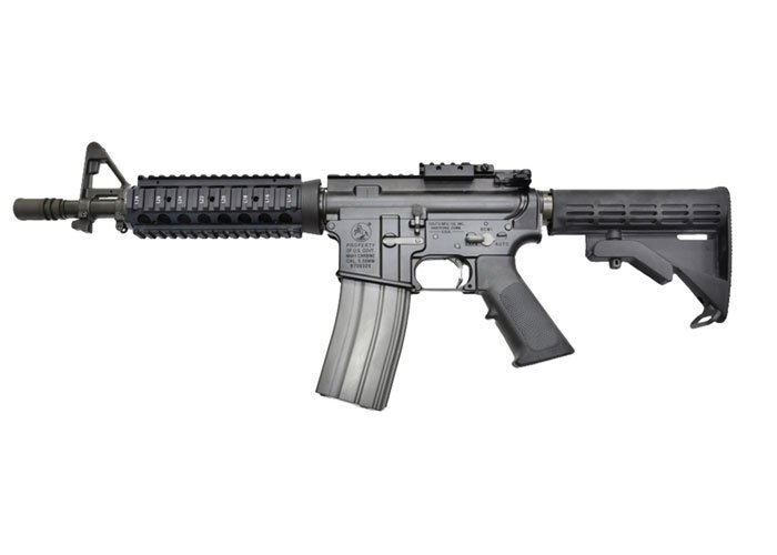GHK Full Metal Colt Licensed RIS M4 CQB GBB Airsoft Rifle (Black)