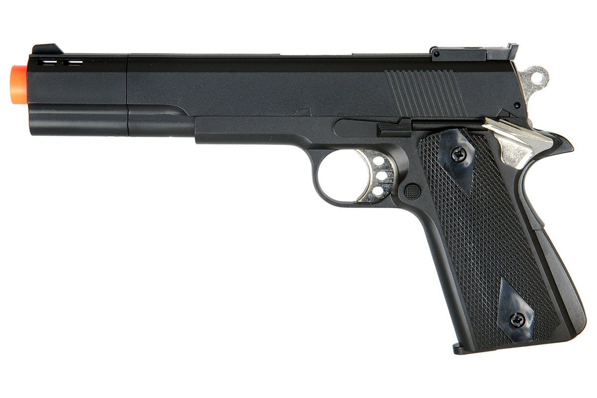 hfc hg124b 1911 compensated tactical gas pistol airsoft. Black Bedroom Furniture Sets. Home Design Ideas