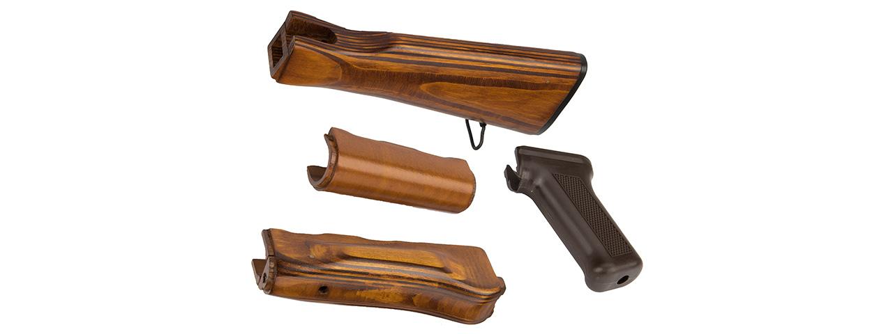 LCT Airsoft AK Series AEG Handguard And Stock Set (Wood)