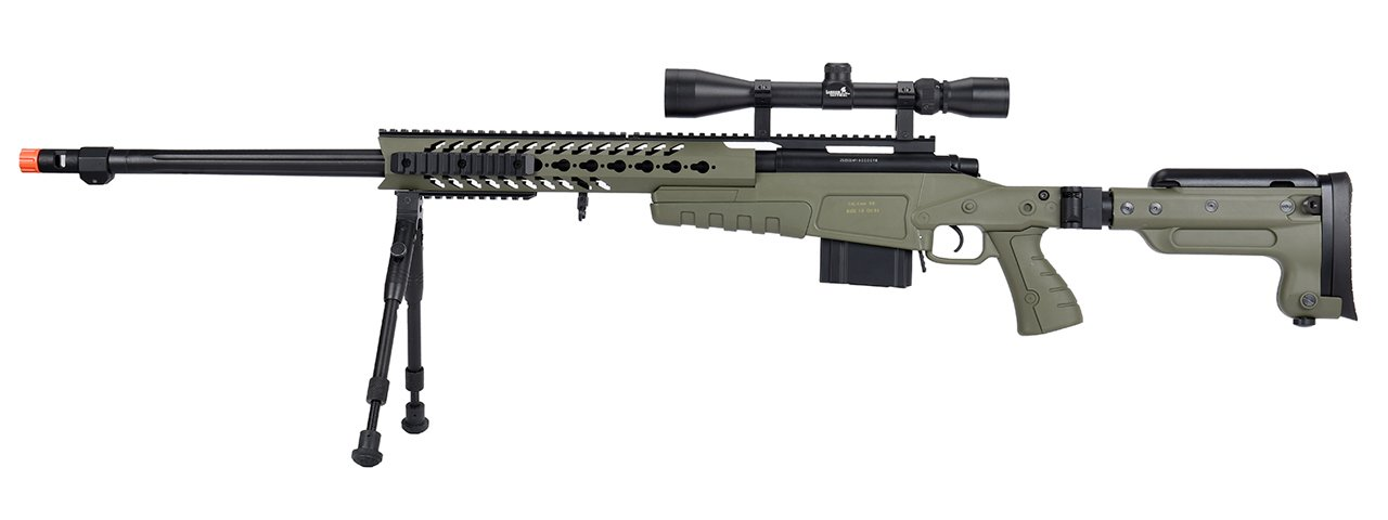 Well Mb4418 3 Bolt Action Airsoft Sniper Rifle W Scope And Bipod Option