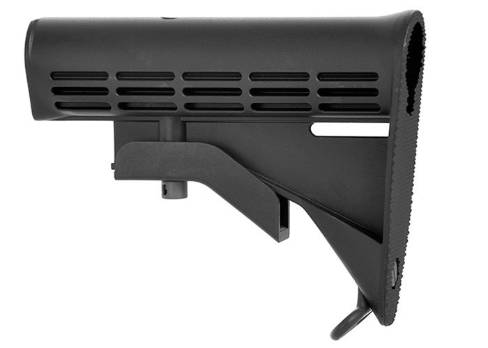 WE Tech M4 LE Stock For Airsoft M4 GBB And AEG Rifles (Black)