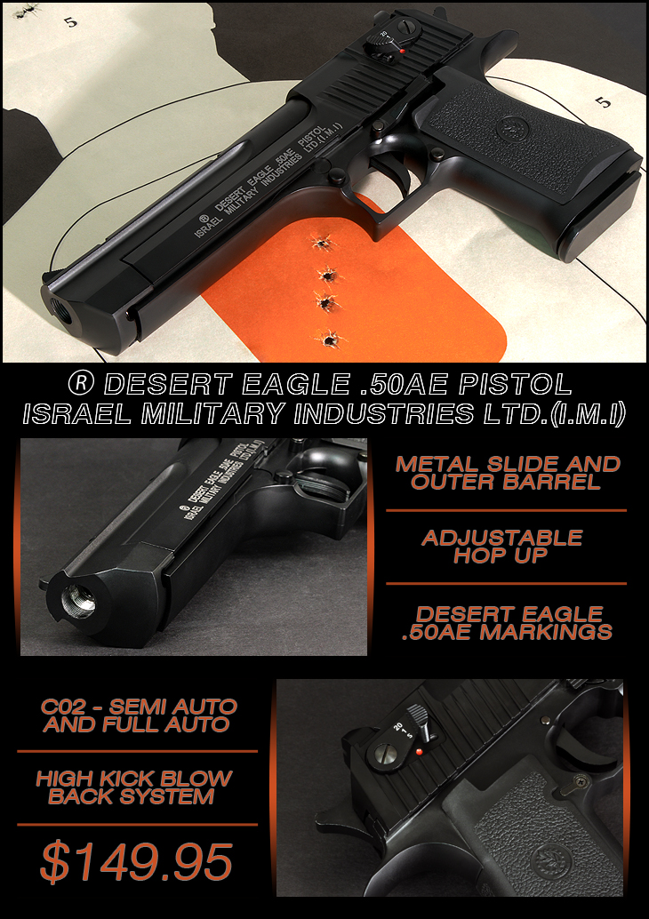 Cybergun CO2 Desert Eagle w/ Metal Slide