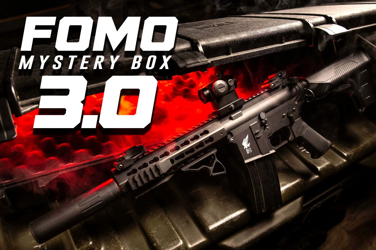 FOMO Mystery Box 3 0 Ft  Airsoft Rifle, Pistols, & More (120 Available)