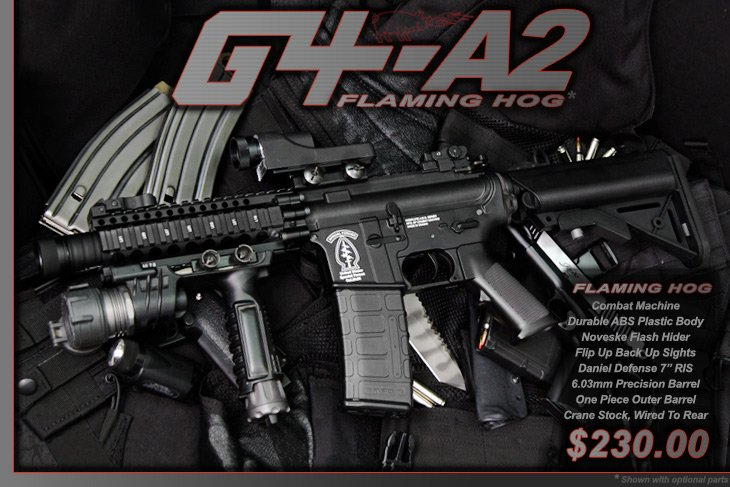 Airsoft GI G4-A2 Flaming Hog