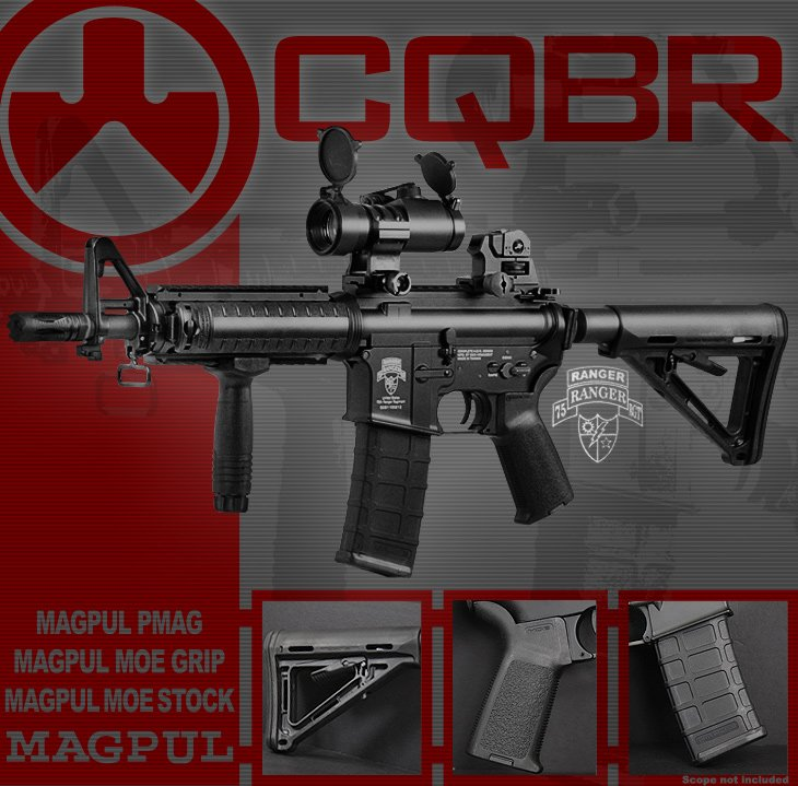 Airsoft GI Full Metal Magpul CQBR