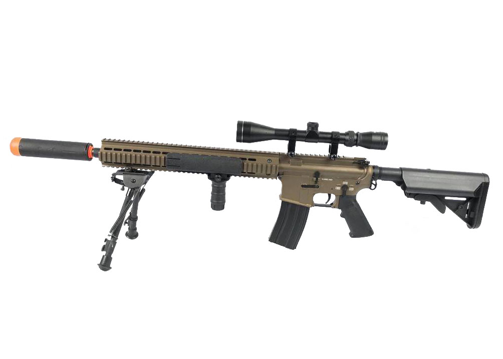 Classic Army Urban Sniper AEG Airsoft Rifle (Bipod Scope Package) Factory  Direct