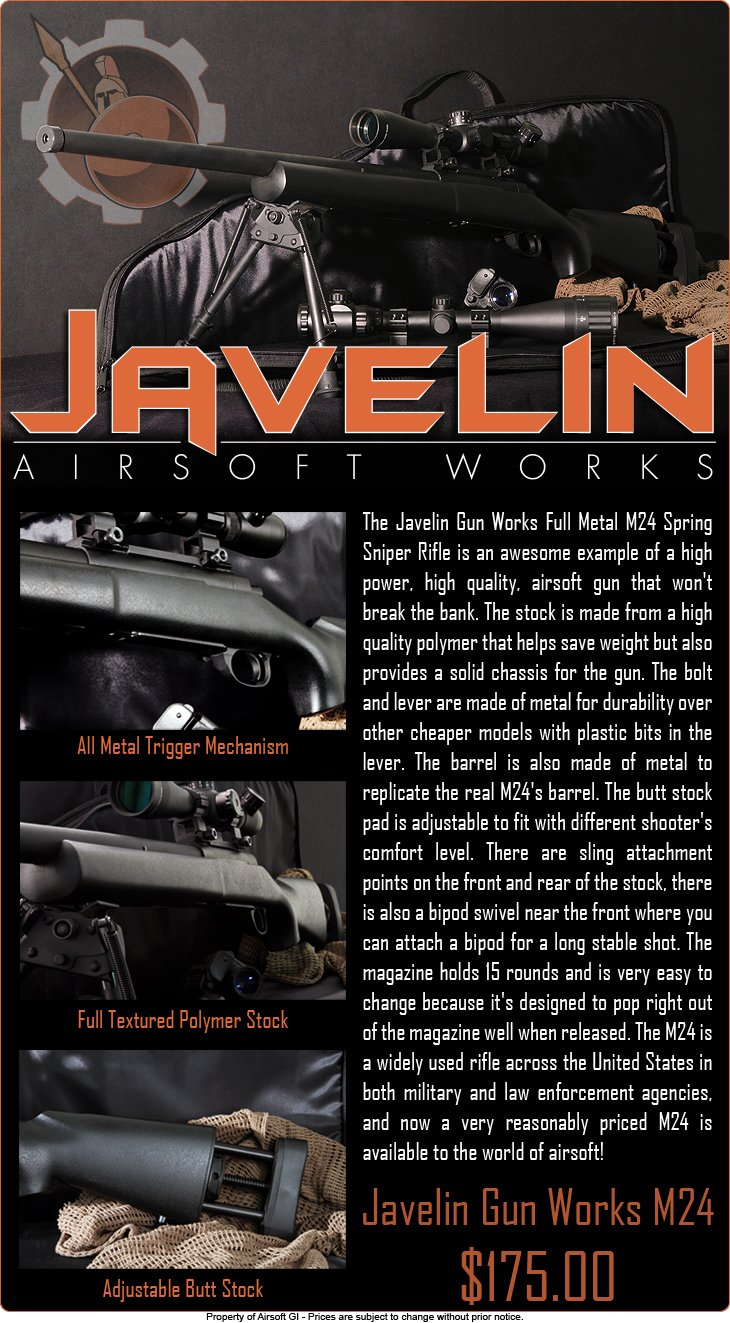 Javelin Gun Works M24 Sniper Rifle