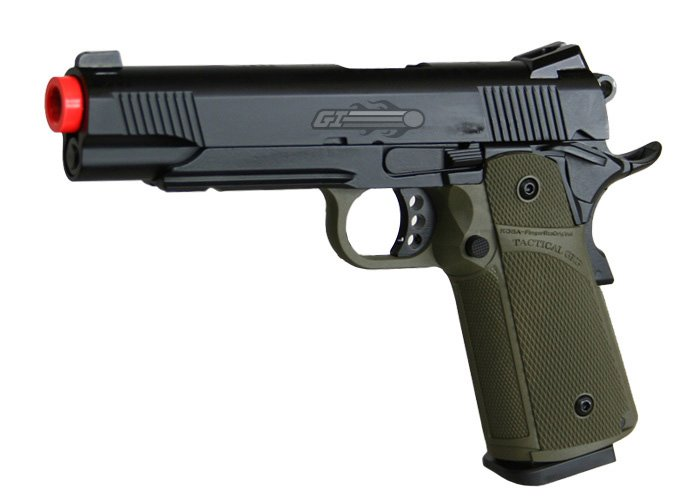 KJW Full Metal M1911 Tactical GBB Airsoft Gun by: KJ Works - Airsoft