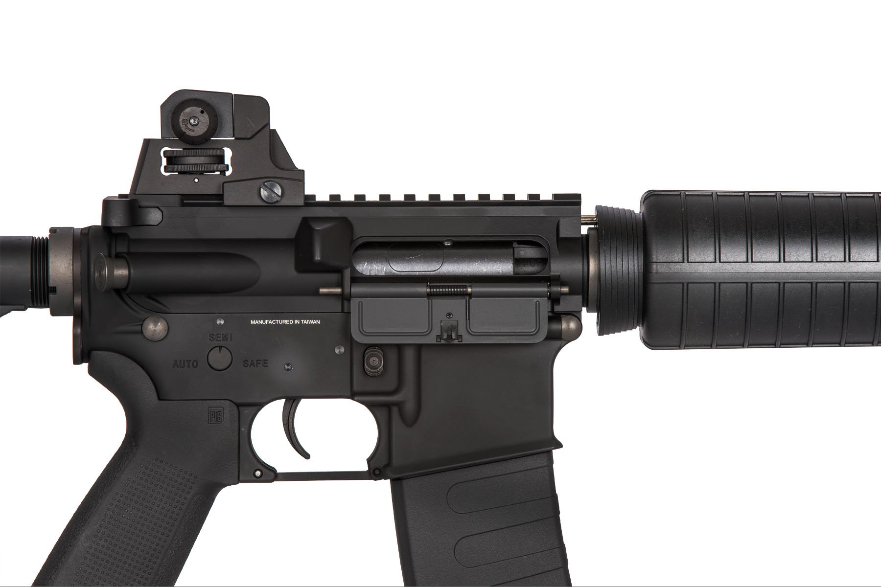 Kwa Full Metal Rm4 A1 Electric Recoil Erg Airsoft Rifle