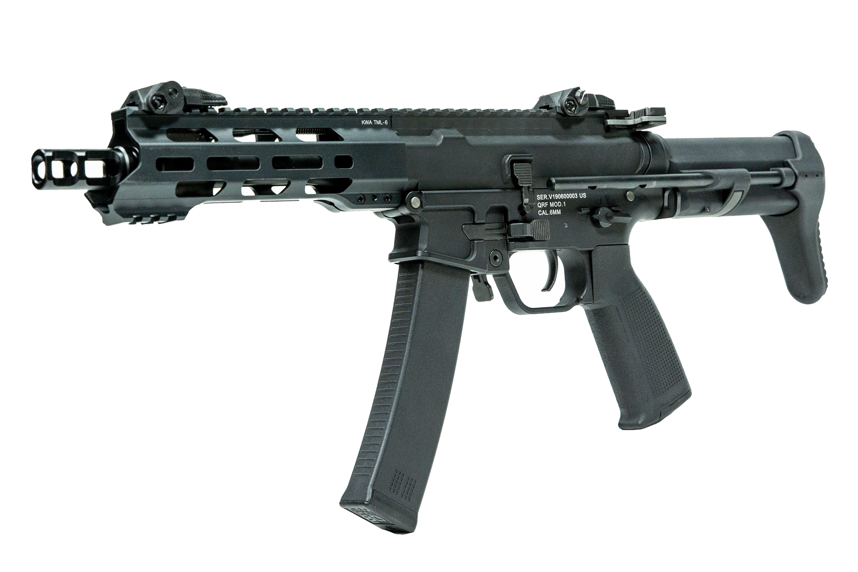 KWA QRF MOD1 AEG Airsoft Rifle (Black)