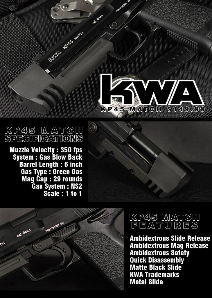 KWA KP45 Match