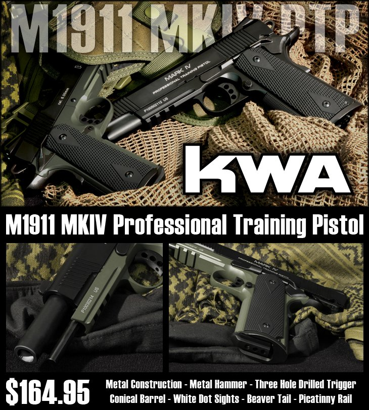 KWA FUll Metal M1911 Mark IV PTP
