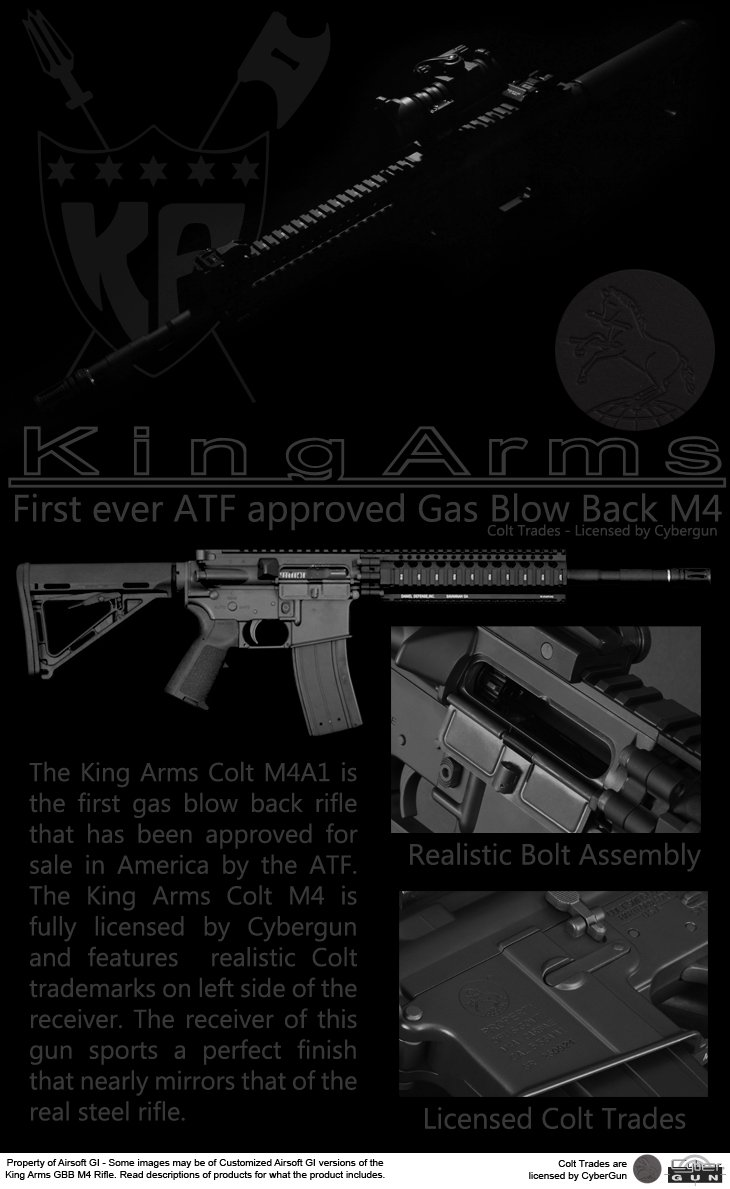 King Arms Full Metal Colt M4 Gas Blowback