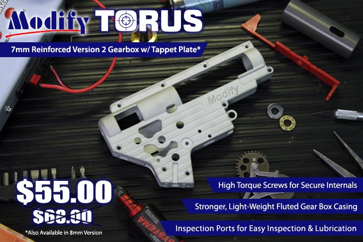 Modify TORUS Version 2 Gearbox
