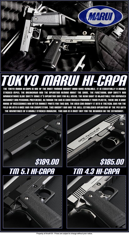 Tokyo Marui Hi Capa Pistols