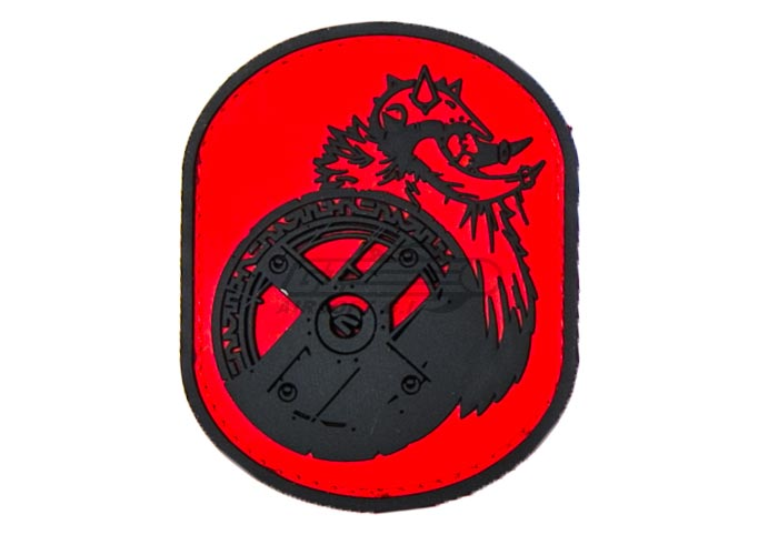 PVC Patch ( Red ) by: Milspec Monkey - Airsoft GI - theboy ptch